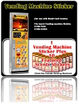 Vending Machine Sticker Plus 10 Featured Product Stickers